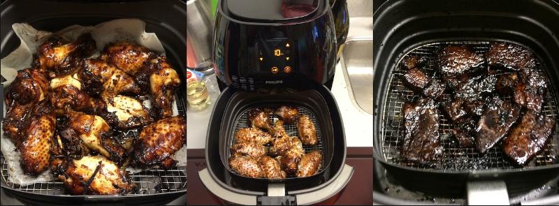 vlees uit de airfryer
